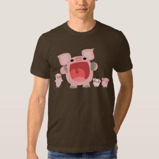 Shouting Cartoon Pigs T-shirt :)