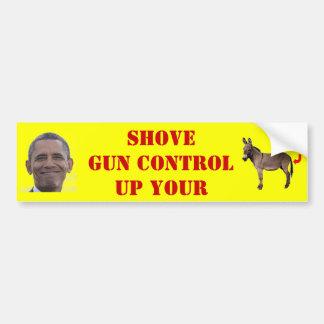 SHOVE GUN CONTROL BUMPER STICKER