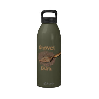 Shovel Bum Archaeologist Water Bottle