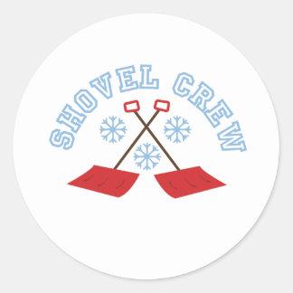 Shovel Crew Round Sticker