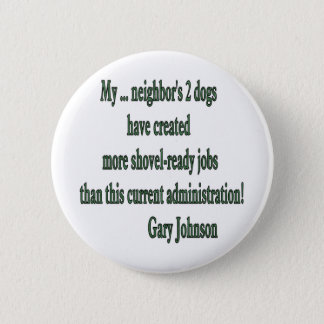 Shovel-ready Jobs Quote 6 Cm Round Badge