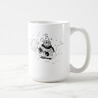 Shoveling Snow Coffee Mugs