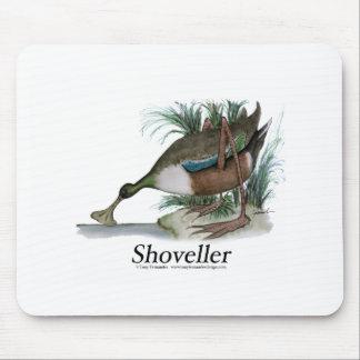 Shoveller duck, tony fernandes mousepad