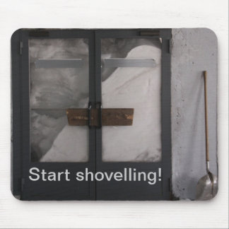 Shovelling Snow Mouse Pad