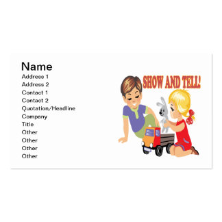 Show And Tell 3 Pack Of Standard Business Cards