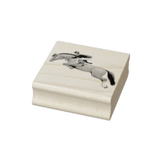 Show Jumping Horse Rubber Stamp