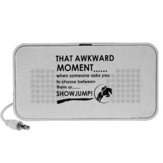 Show Jumping Sports Designs Portable Speaker