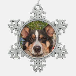 Show Me Sad Pewter Snowflake Decoration