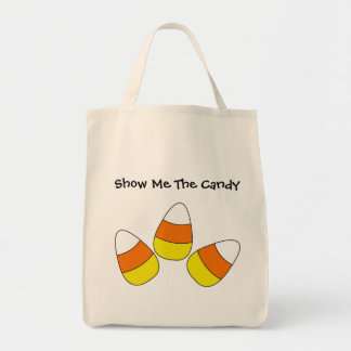 Show Me The Candy Halloween Tote Grocery Tote Bag
