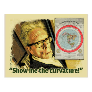 """Show me the Curvature!"" Postcard"
