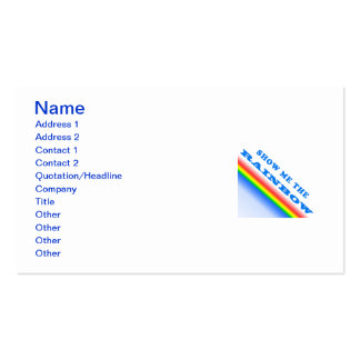 Show Me The Rainbow Pack Of Standard Business Cards