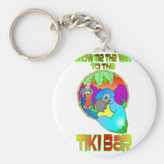 Show me the way to the TIKI BAR Basic Round Button Key Ring