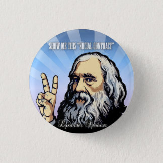"""Show Me This """"Social Contract"""" Lysander Spooner 3 Cm Round Badge"""