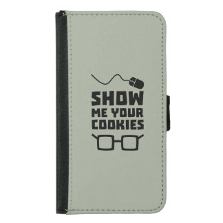 Show me your Cookies Geek Zb975 Samsung Galaxy S5 Wallet Case