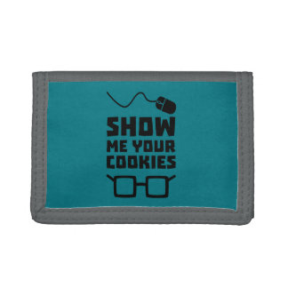 Show me your Cookies Geek Zb975 Tri-fold Wallets