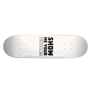 Show me your cookies nerd Zh454 21.3 Cm Mini Skateboard Deck