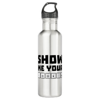 Show me your cookies nerd Zh454 710 Ml Water Bottle