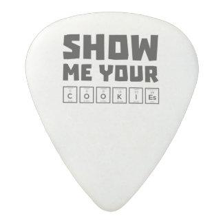 Show me your cookies nerd Zh454 Acetal Guitar Pick
