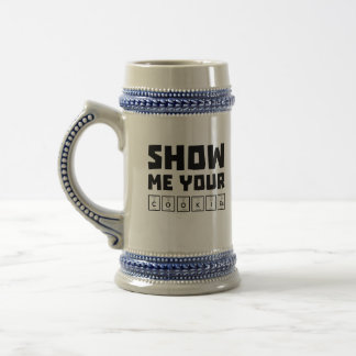 Show me your cookies nerd Zh454 Beer Stein