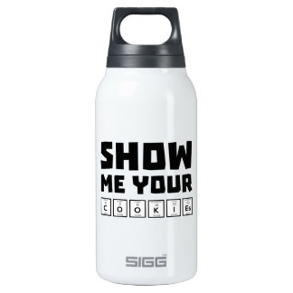 Show me your cookies nerd Zh454 Insulated Water Bottle