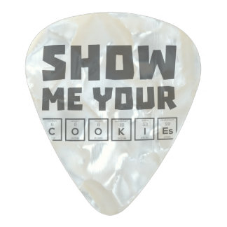 Show me your cookies nerd Zh454 Pearl Celluloid Guitar Pick