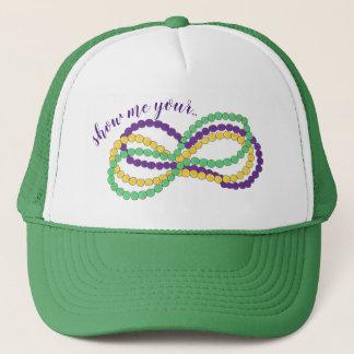Show Me Your Mardi Gras Beads New Orleans NOLA Trucker Hat