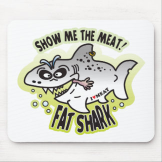 Show Meat Fat Shark Mouse Pad