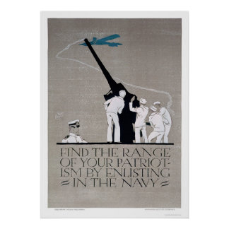 Show Patriotism - Enlist Navy (US02313) Poster