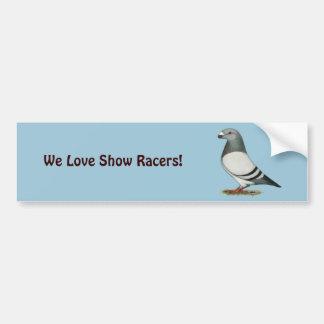 Show Racer Blue Bar Pigeon Bumper Sticker