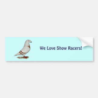 Show Racer Red Bar Pigeon Bumper Stickers