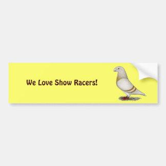 Show Racer Yellow Bar Bumper Stickers