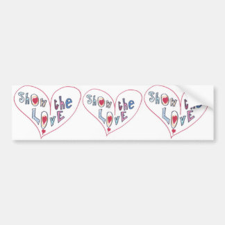Show the Love Bumper Sticker