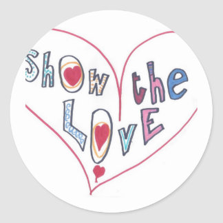 Show the Love Classic Round Sticker
