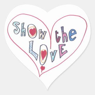 Show the Love Heart Sticker