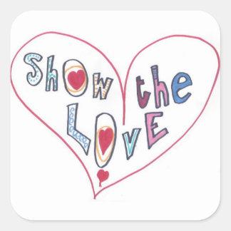 Show the Love Square Sticker