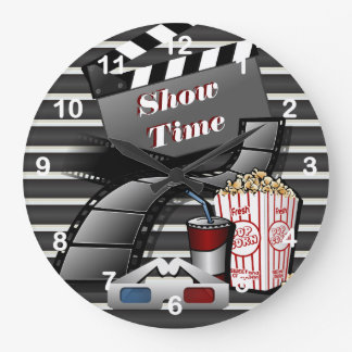 Show Time Movie Theater Wall Clock