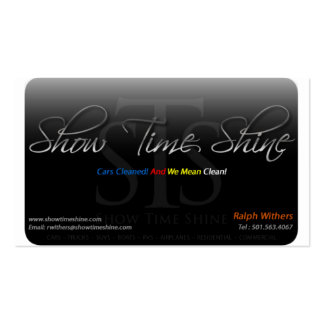 Show Time Shine Pack Of Standard Business Cards