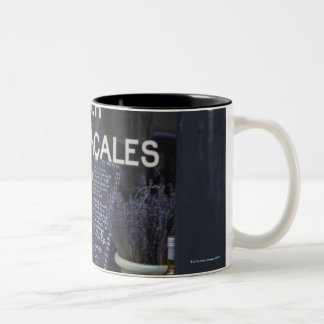 Show Window and Wine Two-Tone Coffee Mug