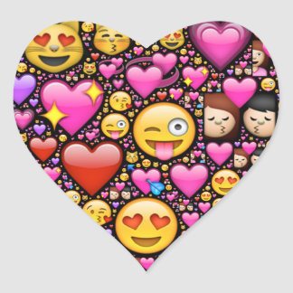 Show your love and affection through Emoji-art Heart Sticker