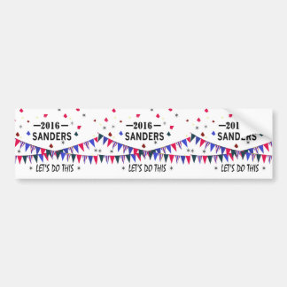 Show Your Support for Bernie Sanders 2016 Bumper Sticker