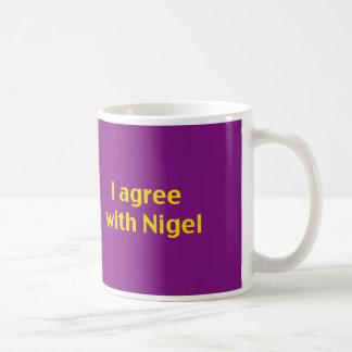 Show your support for Nigel and you kip! Basic White Mug