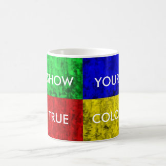Show Your True Colors Basic Colors Woodgrain Bloc. Basic White Mug