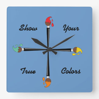 Show Your True Colors Wallclocks