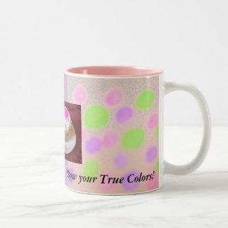 Show your true colors. Two-Tone coffee mug