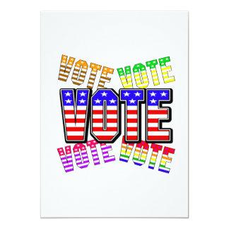 Show your true colors - Vote 13 Cm X 18 Cm Invitation Card