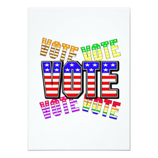 Show your true colors - Vote 13 Cm X 18 Cm Invitation Card