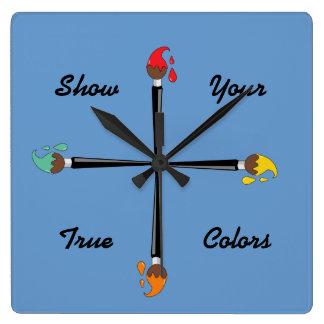 Show Your True Colors Wallclocks