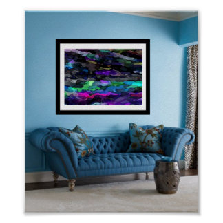 Showcase Art: Watercolor Magic Print Poster Retro