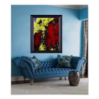 Showcasing Art: SPILLED COLORS Abstract $9.95 Poster