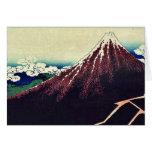 Shower below the summit by Katsushika, Hokusai Card